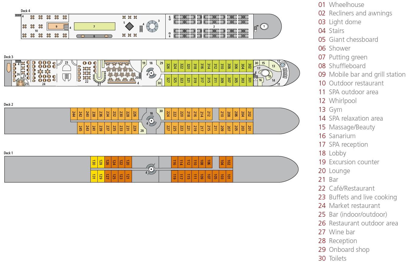 A-Rosa Brava Deck Plan