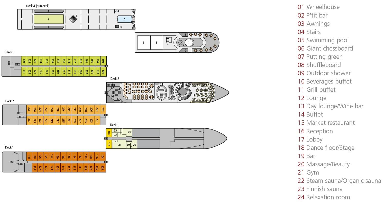 A-Rosa Luna Deck Plan