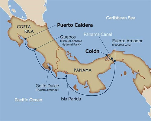 7 Days - Costa Rica & Panama Canal [Puerto Caldera to Colón]