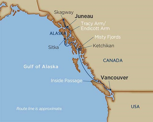 7 Days - Scenic Alaska [Vancouver to Juneau]