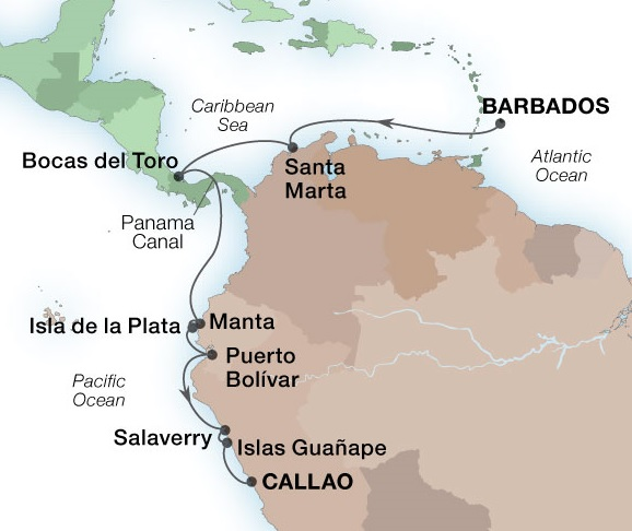 14-Day Panama Canal & The Humboldt Route