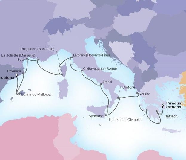14-Day Aegean & Italian Autumn