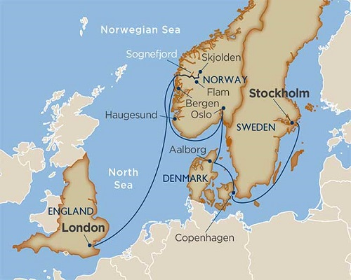 12 Days - Scandinavian Capitals & Fjords [Stockholm to London]