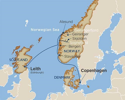 8 Days - Norway's Famous Fjords [Edinburgh to Copenhagen]