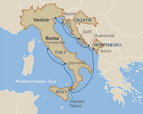 10 Days - Vatican & Croatian Coastlines Cruise Tour [Rome to Venice]