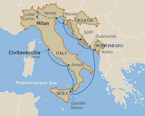 11 Days - Lake Como & Adriatic Romance Cruise Tour [Rome to Cernobbio]