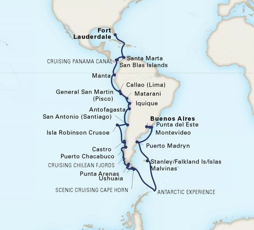 41-Day Grand South America & Antarctica Voyage