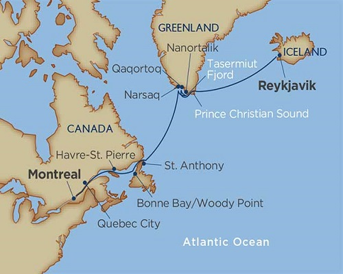 14 Days - Greenland: North Atlantic Odyssey [Reykjavik to Montreal]