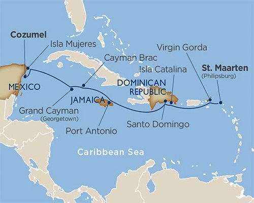 11 Days - Stars of the Greater Antilles [Cozumel to St. Maarten]