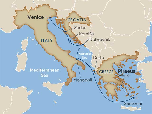 8 Days - Antiquities of the Adriatic & Greece [Athens to Venice]