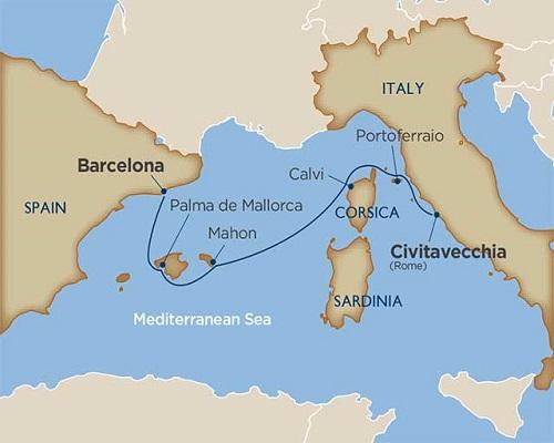 6 Days - Mediterranean Island Mosaic [Rome to Barcelona]