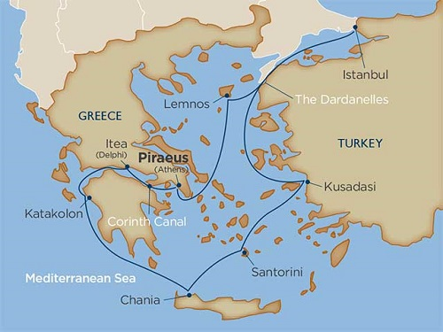 10 days - Greece via the Corinth Canal & Turkey: The Marvels of Ancient Rivals