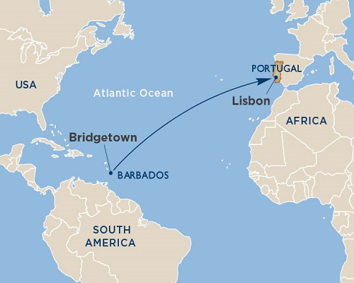 14 Days - Ocean Crossings [Lisbon to Bridgetown]
