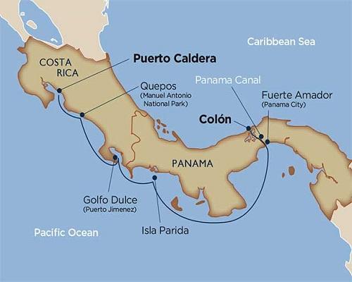 7 Days - Costa Rica & Panama Canal [Colón to Puerto Caldera]