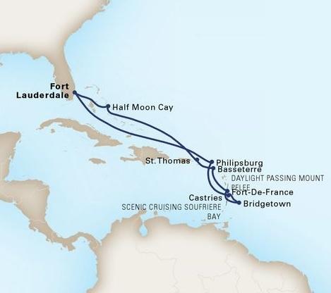 11-Day Southern Caribbean Wayfarer