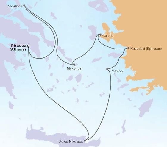 7-Day Greek Isles & Ephesus