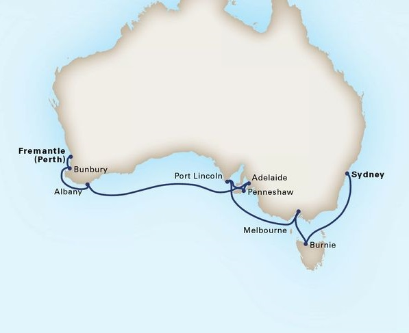 12-Day Australia Circumnavigation