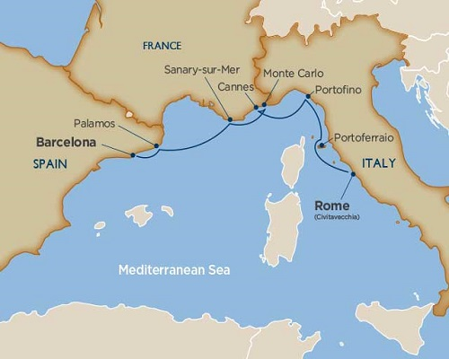 9 Days - Vatican & Italian Riviera Cruise Tour [Rome to Barcelona]