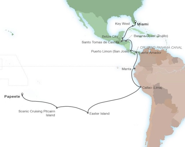 32-Day World Cruise: Path To The Pacific