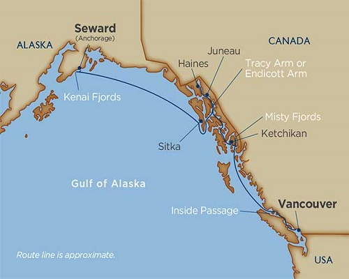 10 Days - Alaskan Splendors [Vancouver to Seward [Anchorage]]