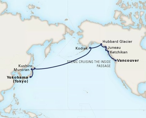 16-Day North Pacific Crossing