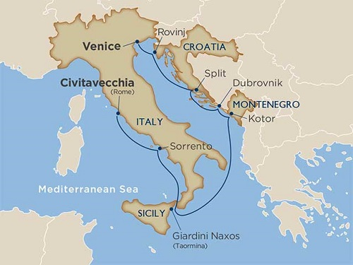 8 days - Classic Italy & Dalmatian Coast [Venice to Rome]