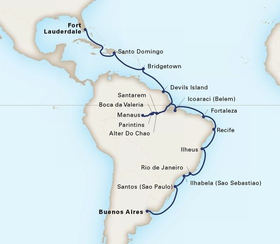 33-Day Grand South America Voyage