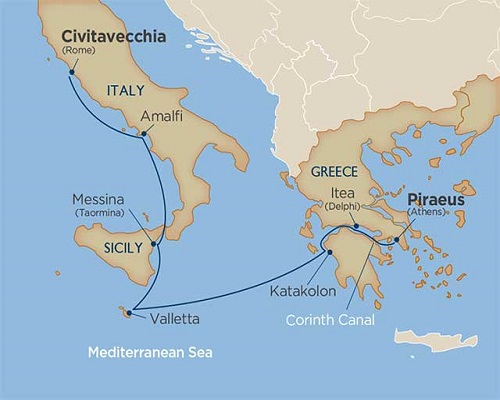 7 Days - Ancient Epicenters via the Corinth Canal [Athens to Rome]