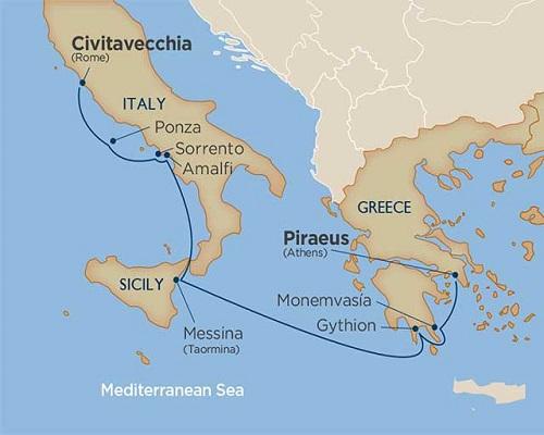 8 Days - Enchanting Greece & the Amalfi Coast [Rome to Athens]