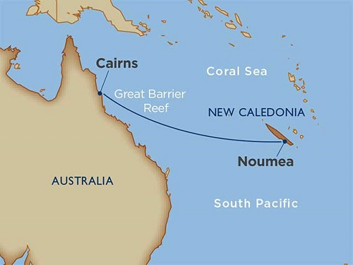 7 Days - Coral Sea Crossing: New Caledonia to Australia [Cairns to Noumea]
