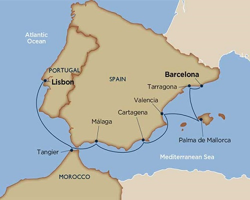 10 Days - Treasures of Southern Spain & Morocco [Lisbon to Barcelona]