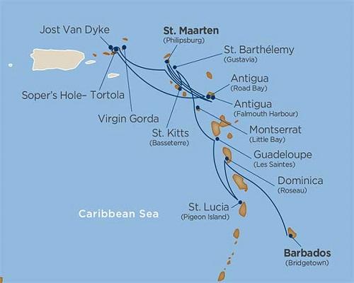 14 Days - Star Collector: Leeward & Windward Caribbean Havens [Bridgetown to St. Maarten]