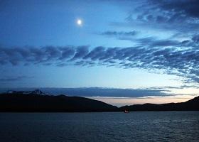 Scenic cruising Stephens Passage / Juneau, Alaska, US